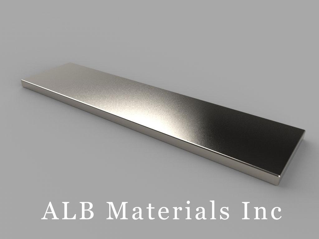 "BY081 Neodymium Magnets, 2"" x 1/2"" x 1/16"" thick"