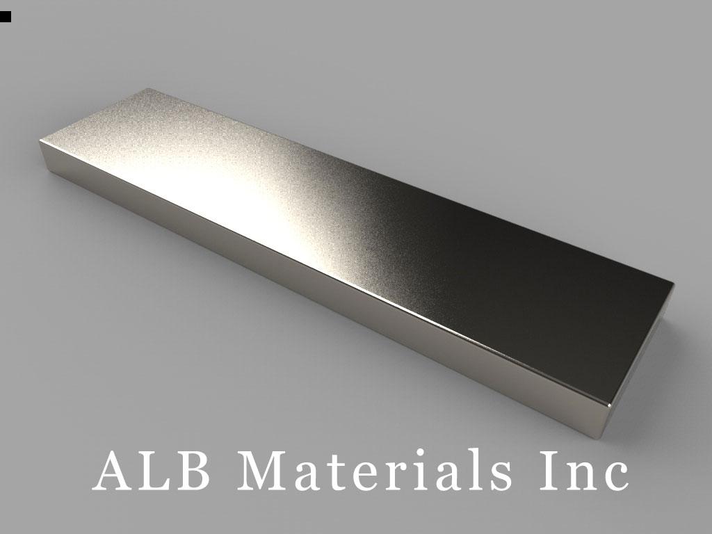 "BY082 Neodymium Magnets, 2"" x 1/2"" x 1/8"" thick"