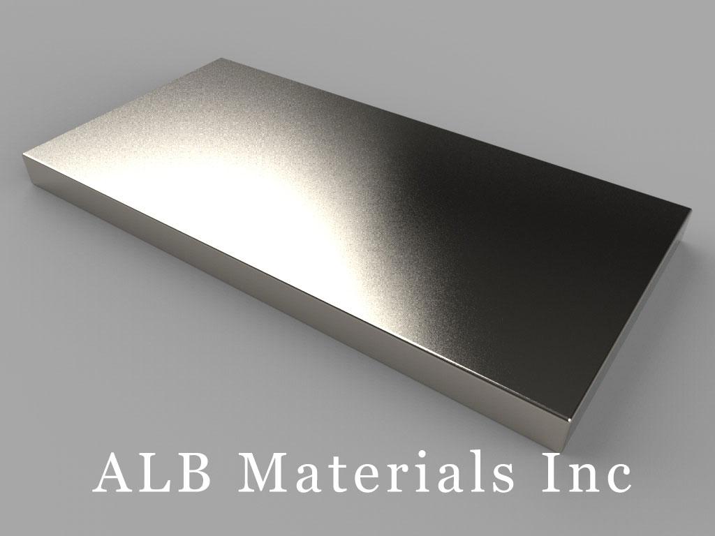 "BY0X02SH Neodymium Magnets, 2"" x 1"" x 1/8"" thick"