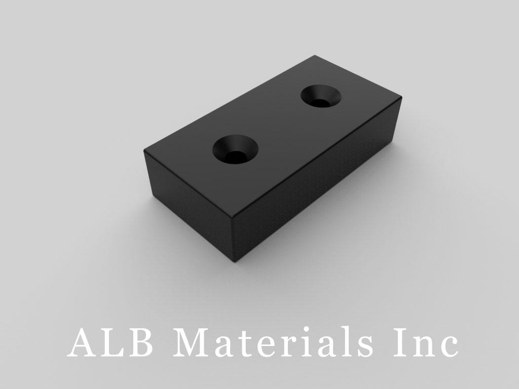 BY0X08DCSPC-BLK Plastic Coated Neodymium Magnets