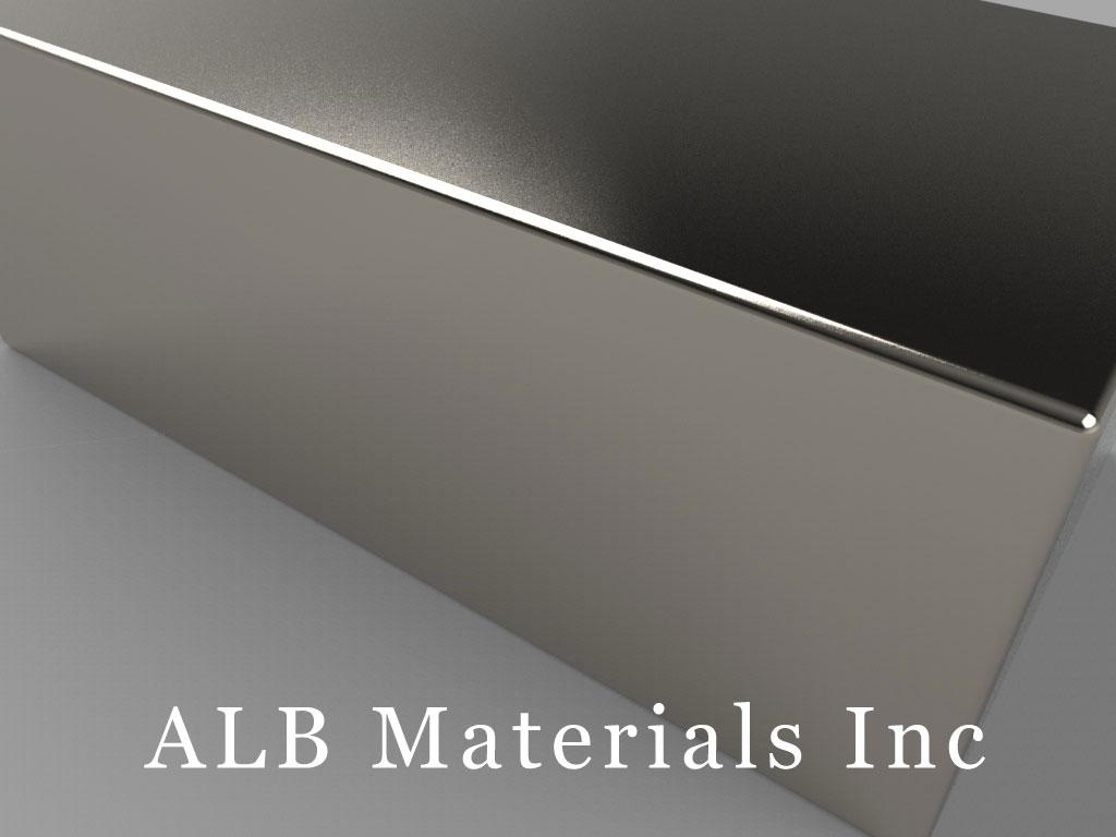 BY0X0C Neodymium Magnets, 2 inch x 1 inch x 3/4 inch thick