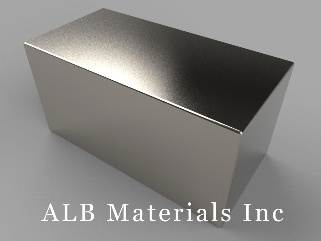 BY0X0X0 Neodymium Magnets, 2 inch x 1 inch x 1 inch thick