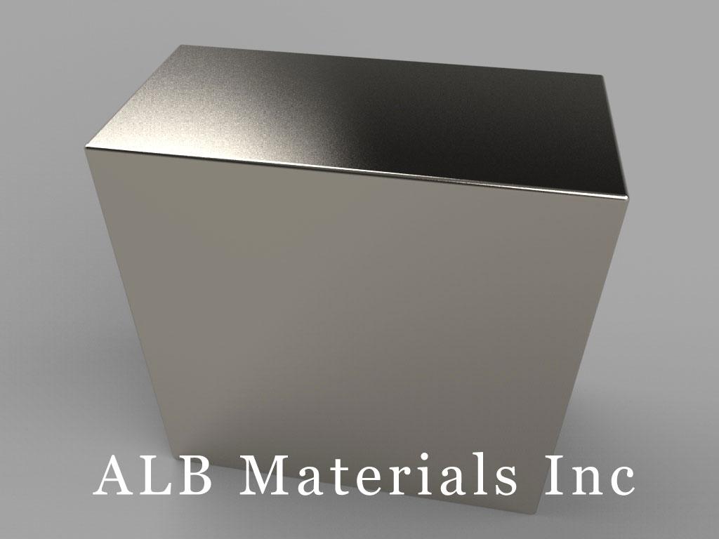 BY0X0Y0 Neodymium Magnets, 2 inch x 1 inch x 2 inch thick