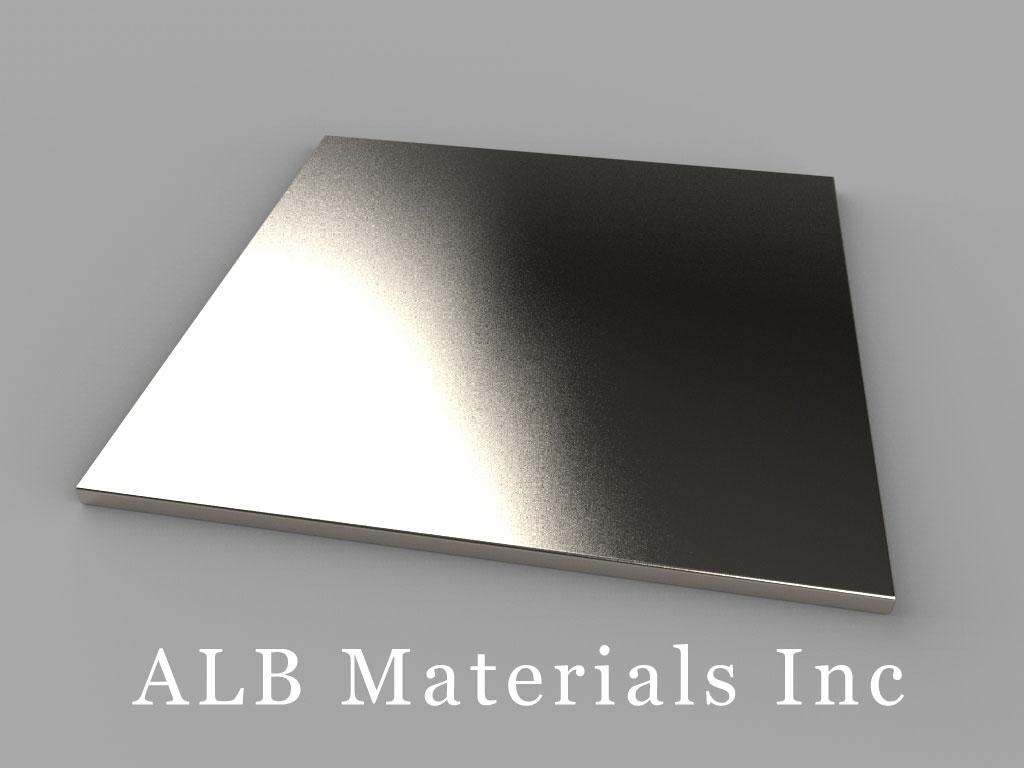 "BY0Y01 Neodymium Magnets, 2"" x 2"" x 1/16"" thick"