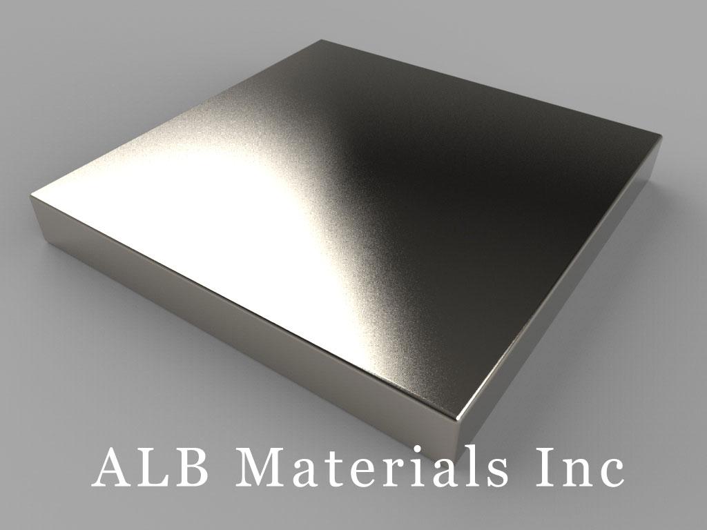 "BY0Y04 Neodymium Magnets, 2"" x 2"" x 1/4"" thick"