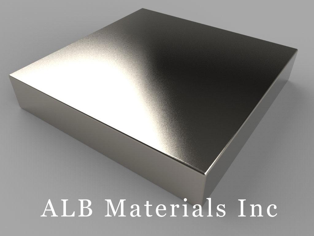 "BY0Y06 Neodymium Magnets, 2"" x 2"" x 3/8"" thick"