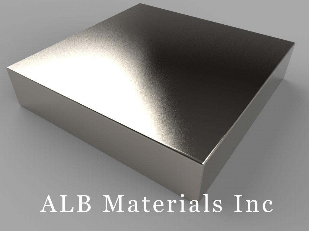 BY0Y07 Neodymium Magnets, 2 inch x 2 inch x 7/16 inch thick