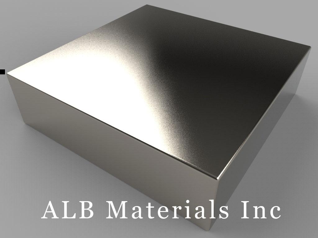 "BY0Y09 Neodymium Magnets, 2"" x 2"" x 9/16"" thick"
