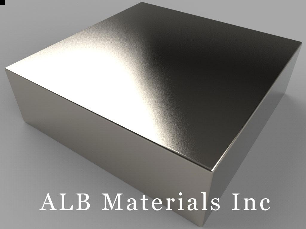 BY0Y0A Neodymium Magnets, 2 inch x 2 inch x 5/8 inch thick
