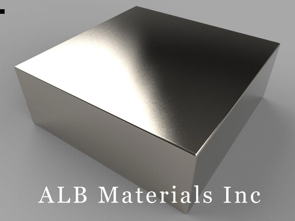 BY0Y0C Neodymium Magnets, 2 inch x 2 inch x 3/4 inch thick