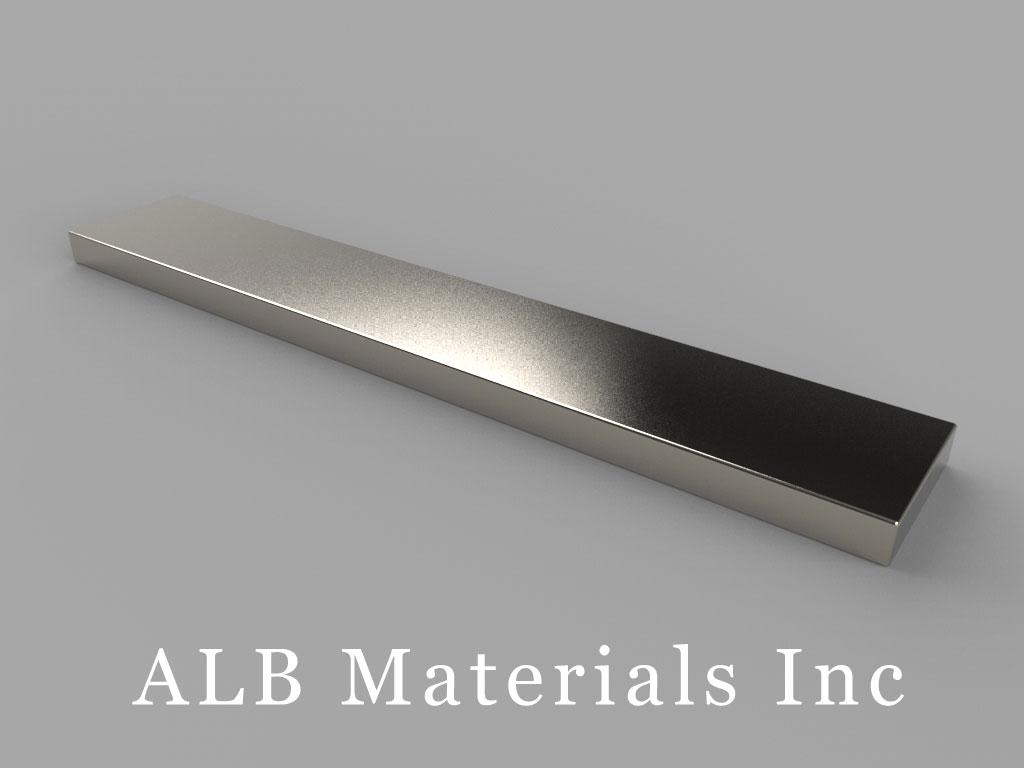 BZ082 Neodymium Magnets, 3 inch x 1/2 inch x 1/8 inch thick