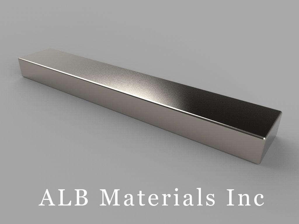 BZ084 Neodymium Magnets, 3 inch x 1/2 inch x 1/4 inch thick
