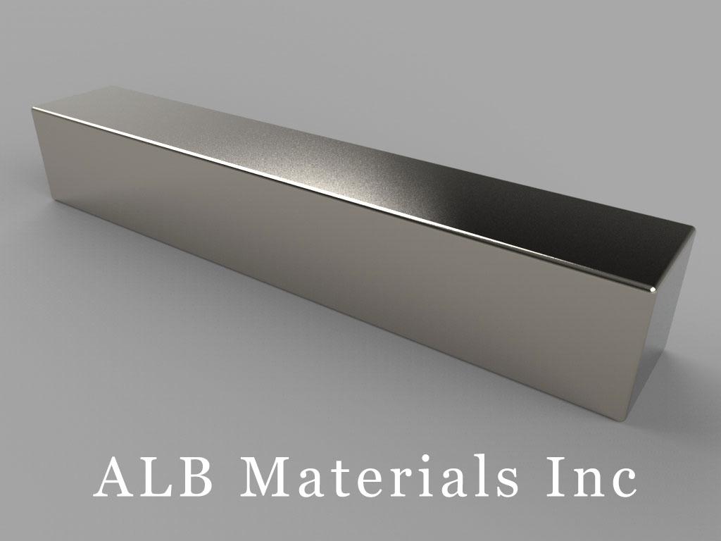 """BZ088 Neodymium Magnets, 3"""" x 1/2"""" x 1/2"""" thick"""