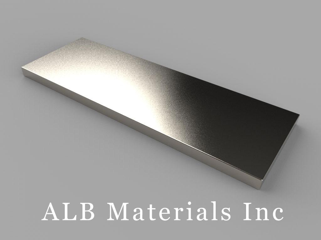 """BZ0X02 Neodymium Magnets, 3"""" x 1"""" x 1/8"""" thick"""
