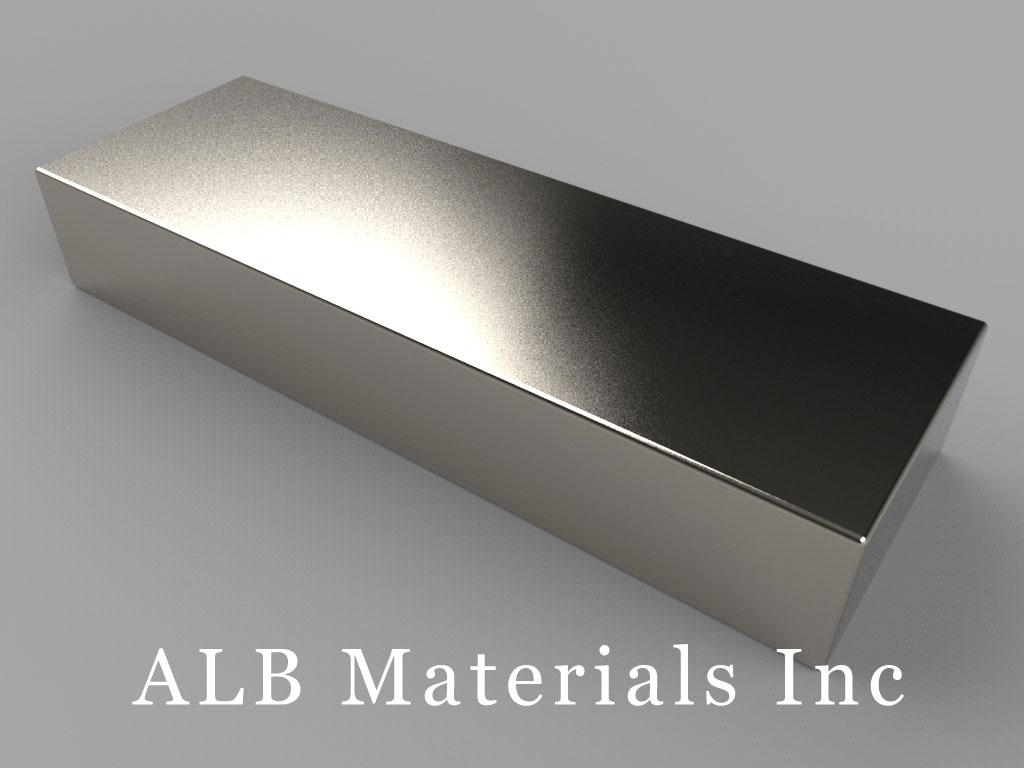 BZ0X08 Neodymium Magnets, 3 inch x 1 inch x 1/2 inch thick
