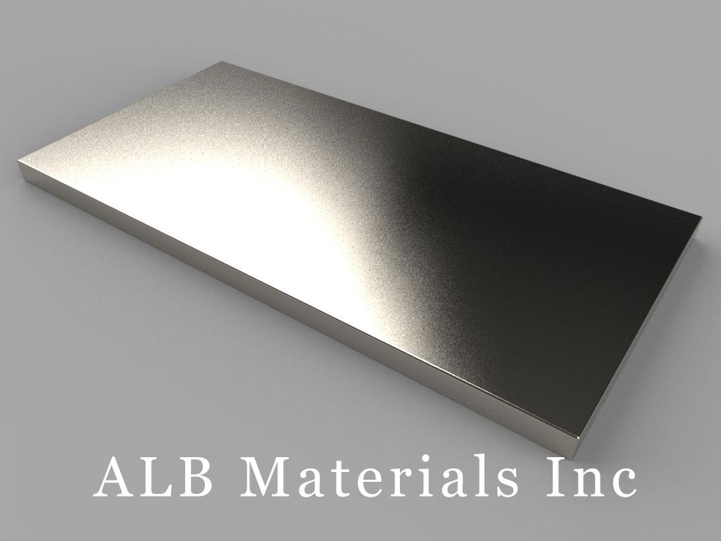 """BZ0X82 Neodymium Magnets, 3"""" x 1 1/2"""" x 1/8"""" thick"""