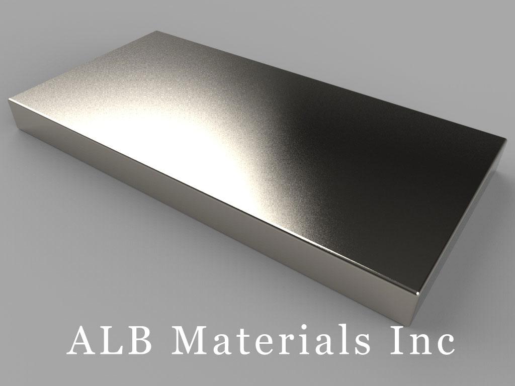 BZ0X84 Neodymium Magnets, 3 inch x 1 1/2 inch x 1/4 inch thick