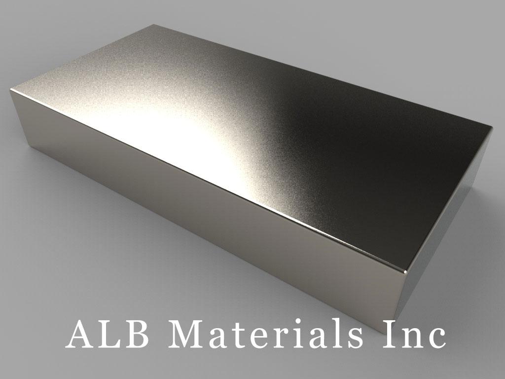 """BZ0X88 Neodymium Magnets, 3"""" x 1 1/2"""" x 1/2"""" thick"""
