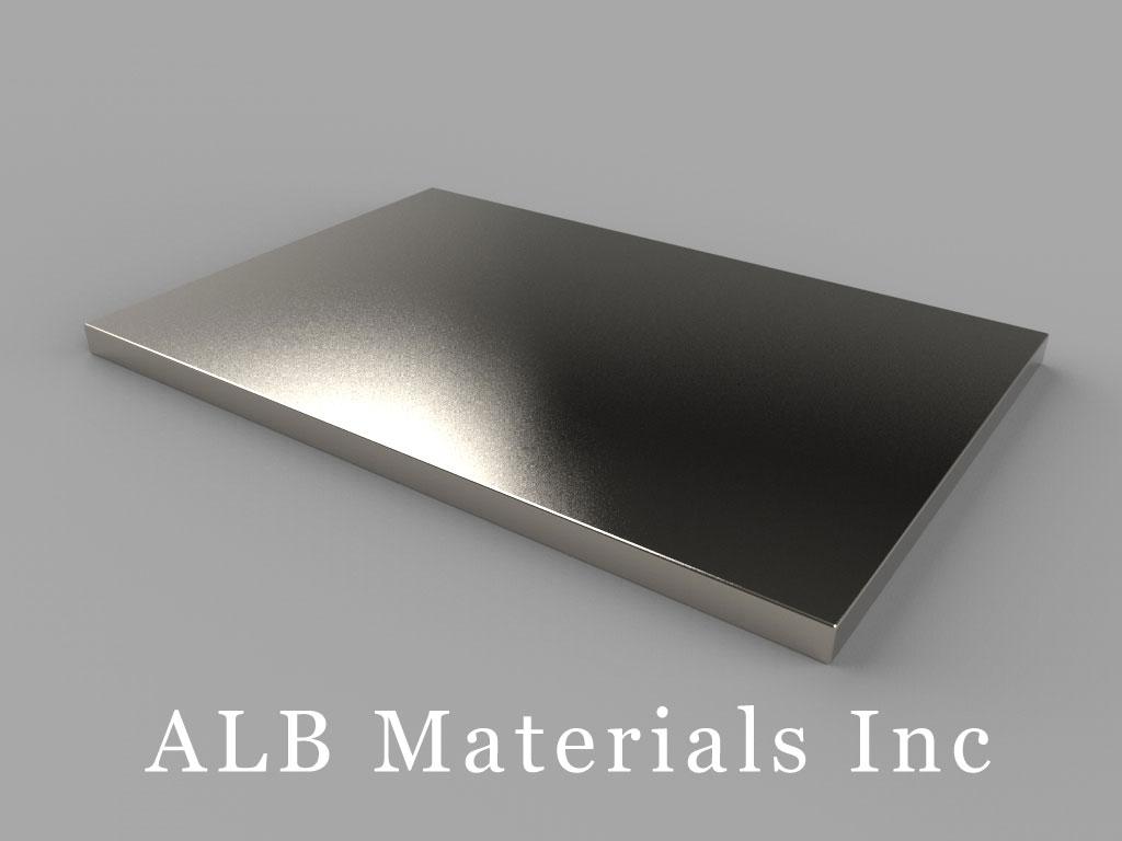 BZ0Y02 Neodymium Magnets, 3 inch x 2 inch x 1/8 inch thick
