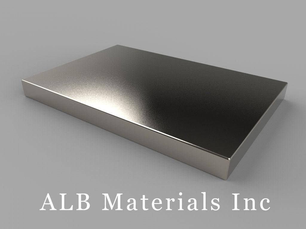 BZ0Y04 Neodymium Magnets, 3 inch x 2 inch x 1/4 inch thick