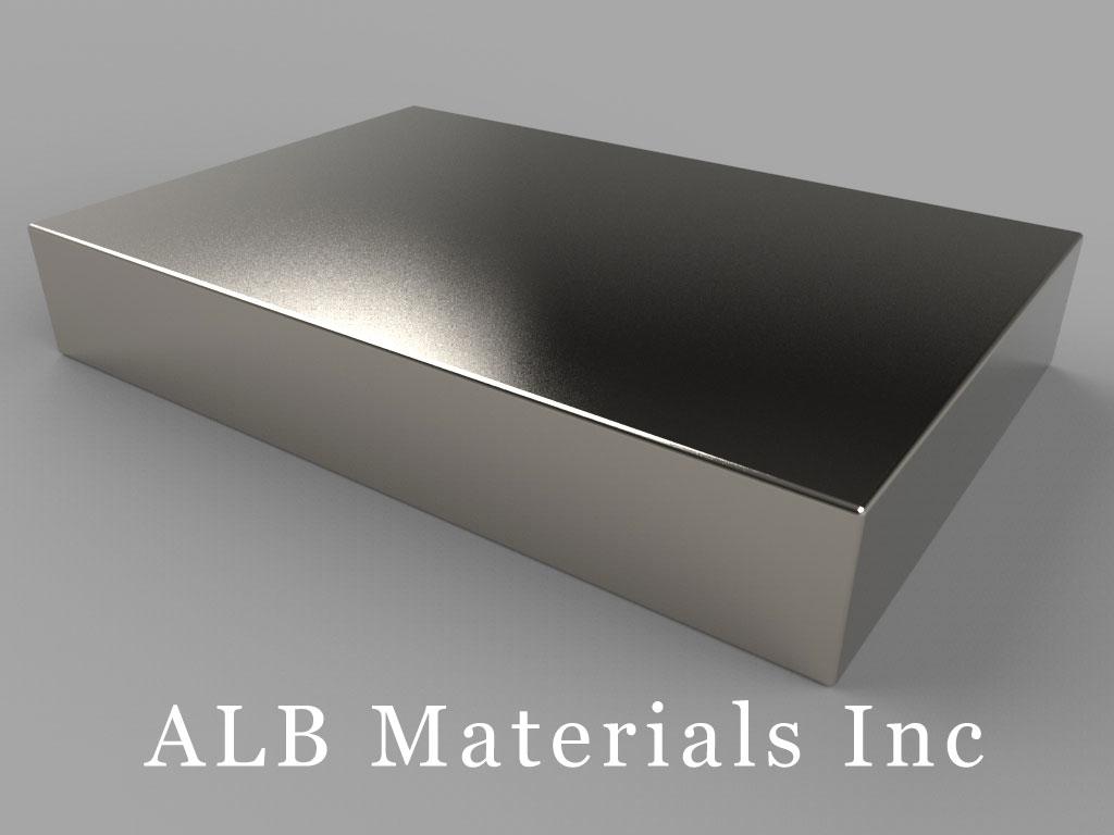 """BZ0Y08-N52 Neodymium Magnets, 3"""" x 2"""" x 1/2"""" thick"""