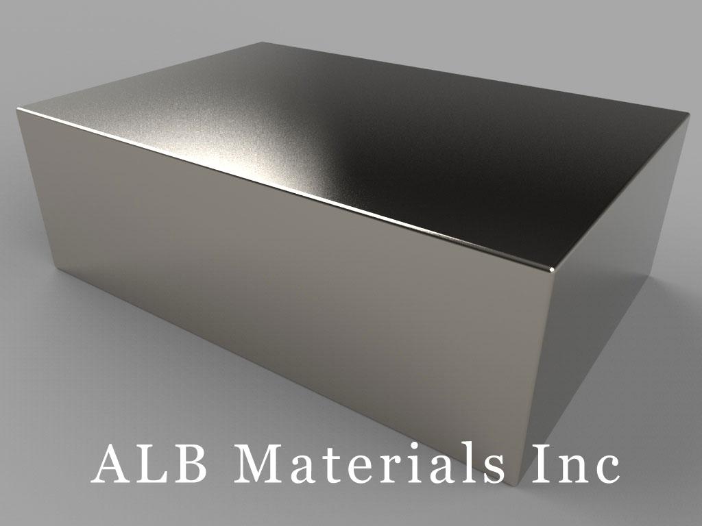 BZ0Y0X0-N52 Neodymium Magnets, 3 inch x 2 inch x 1 inch thick