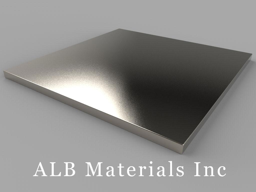 "BZ0Z02-N52 Neodymium Magnets, 3"" x 3"" x 1/8"" thick"