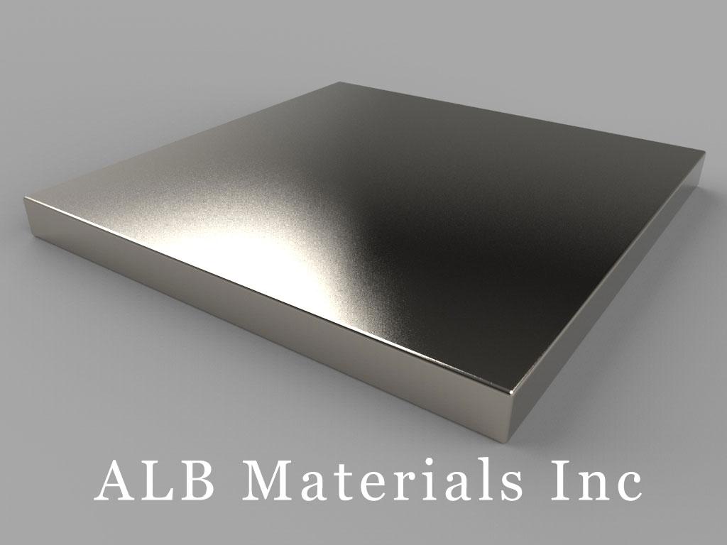 "BZ0Z04-N52 Neodymium Magnets, 3"" x 3"" x 1/4"" thick"