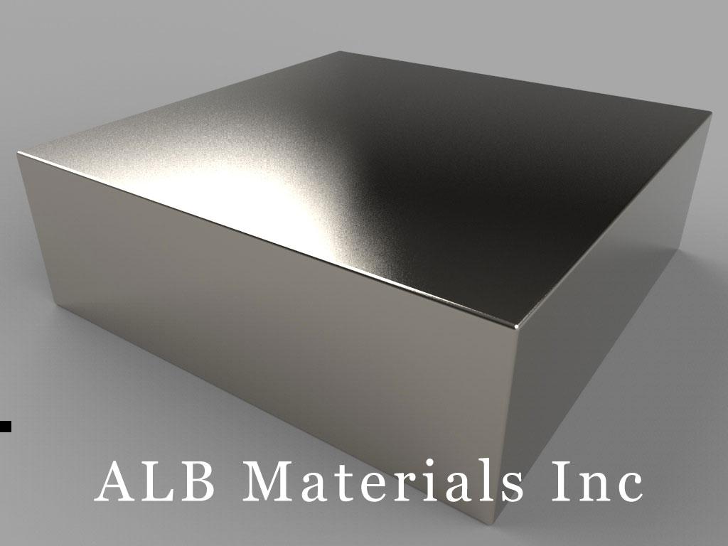 BZ0Z0X0-N52 Neodymium Magnets, 3 inch x 3 inch x 1 inch thick