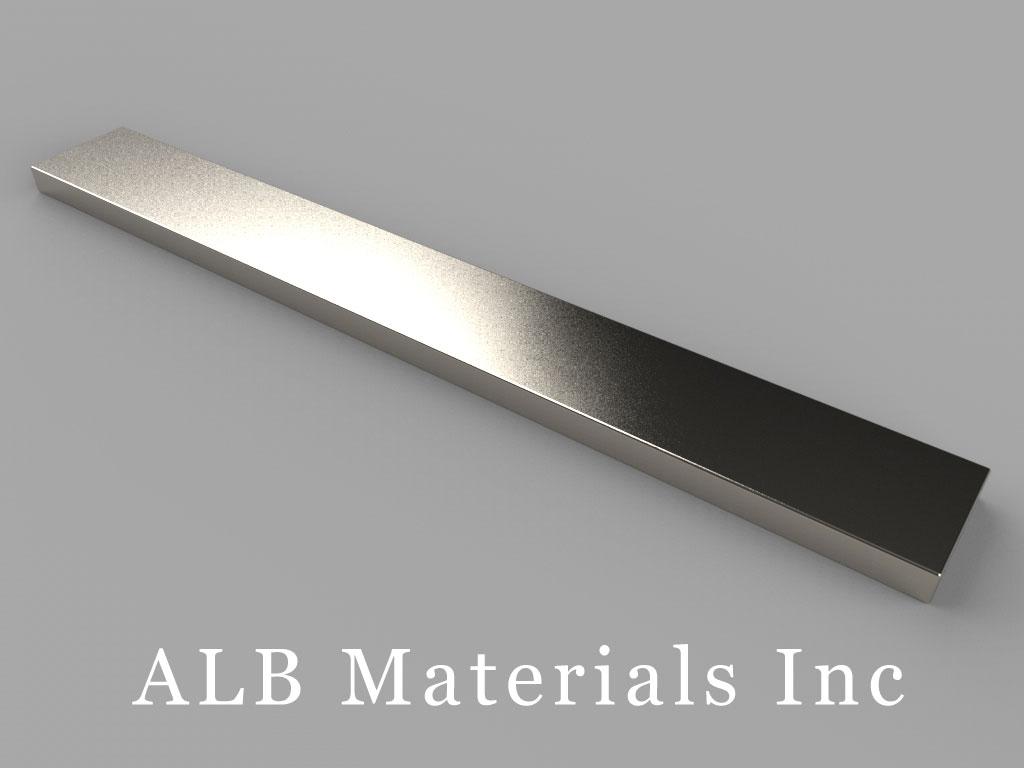 BZX082 Neodymium Magnets, 4 inch x 1/2 inch x 1/8 inch thick