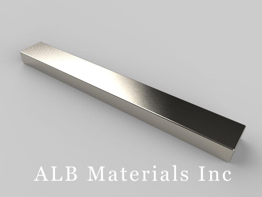 "BZX084 Neodymium Magnets, 4"" x 1/2"" x 1/4"" thick"