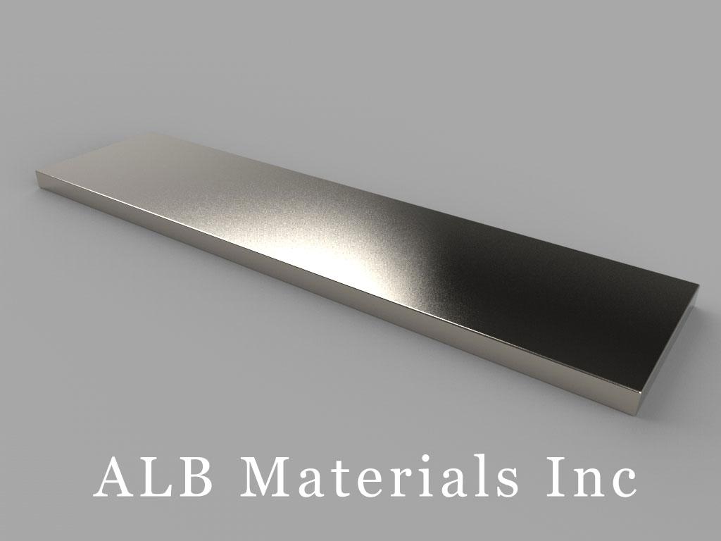 "BZX0X02 Neodymium Magnets, 4"" x 1"" x 1/8"" thick"