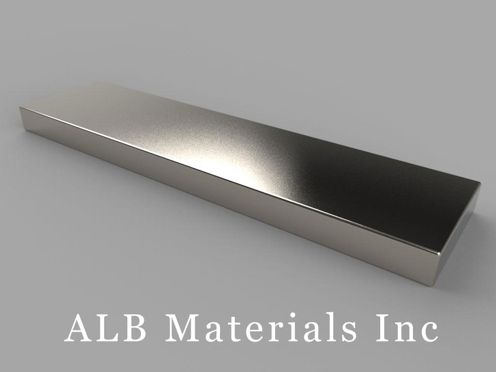 "BZX0X04 Neodymium Magnets, 4"" x 1"" x 1/4"" thick"