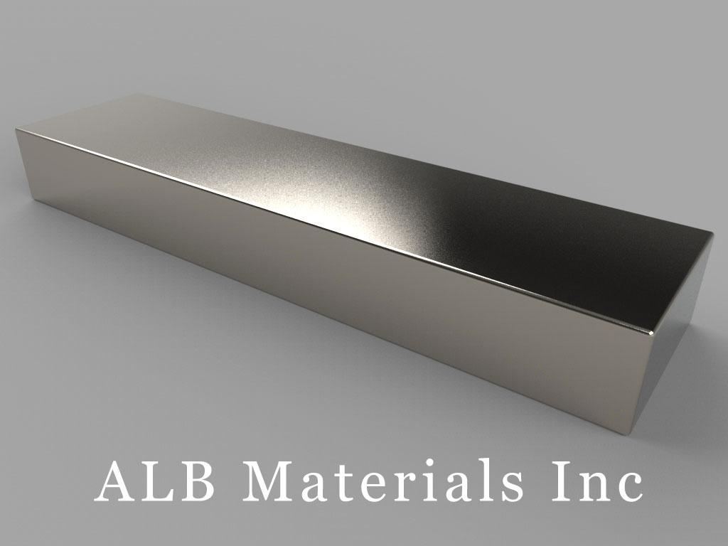 BZX0X08 Neodymium Magnets, 4 inch x 1 inch x 1/2 inch thick