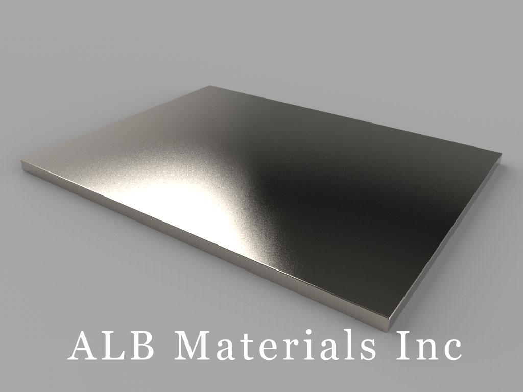 BZX0Z02 Neodymium Magnets, 4 inch x 3 inch x 1/8 inch thick