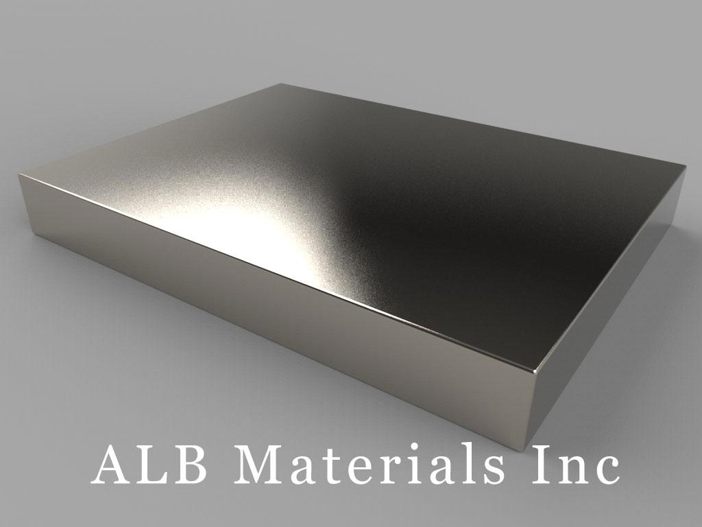 "BZX0Z08-N52 Neodymium Magnets, 4"" x 3"" x 1/2"" thick"