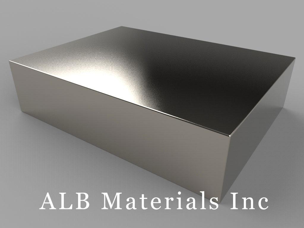 "BZX0Z0X0-N52 Neodymium Magnets, 4"" x 3"" x 1"" thick"