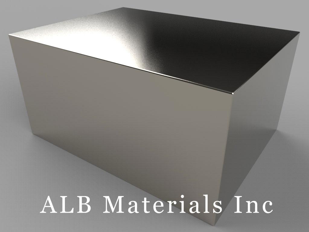 BZX0Z0Y0-N52 Neodymium Magnets, 4 inch x 3 inch x 2 inch thick