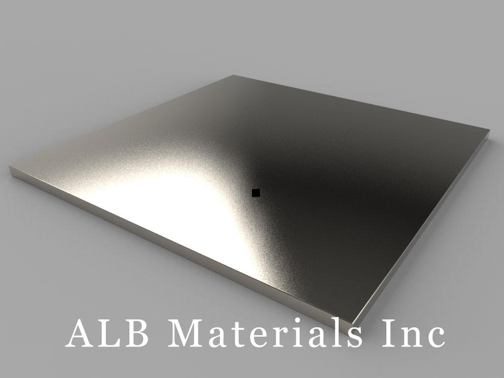 BZX0ZX02 Neodymium Magnets, 4 inch x 4 inch x 1/8 inch thick