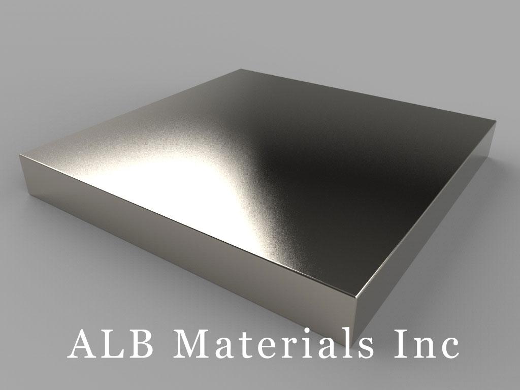 BZX0ZX08-N52 Neodymium Magnets, 4 inch x 4 inch x 1/2 inch thick