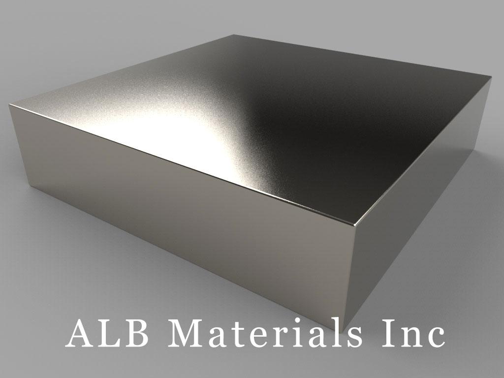 "BZX0ZX0X0-N52 Neodymium Magnets, 4"" x 4"" x 1"" thick"