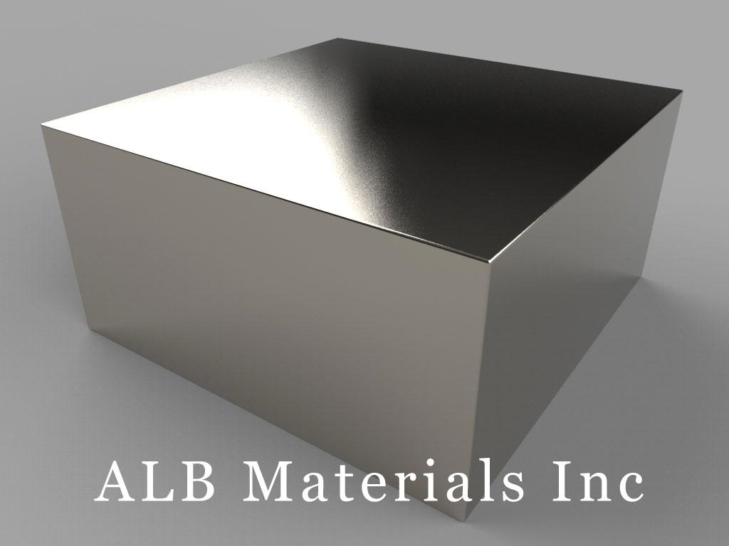 "BZX0ZX0Y0-N52 Neodymium Magnets, 4"" x 4"" x 2"" thick"