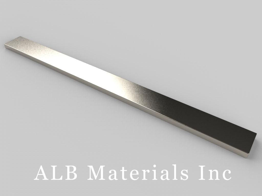"""BZZ082 Neodymium Magnets, 6"""" x 1/2"""" x 1/8"""" thick"""
