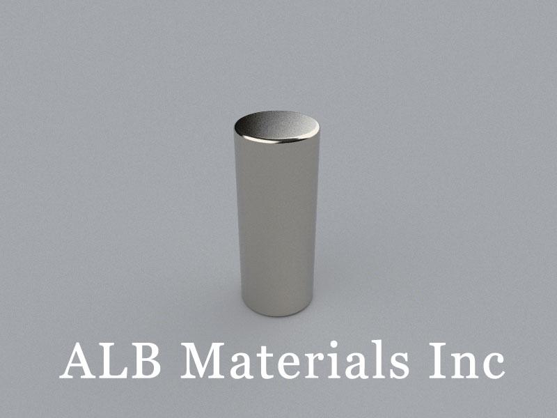 C-D12.7H31.75-N40 Neodymium Magnet, 12.7x31.75mm Cylinder Magnet