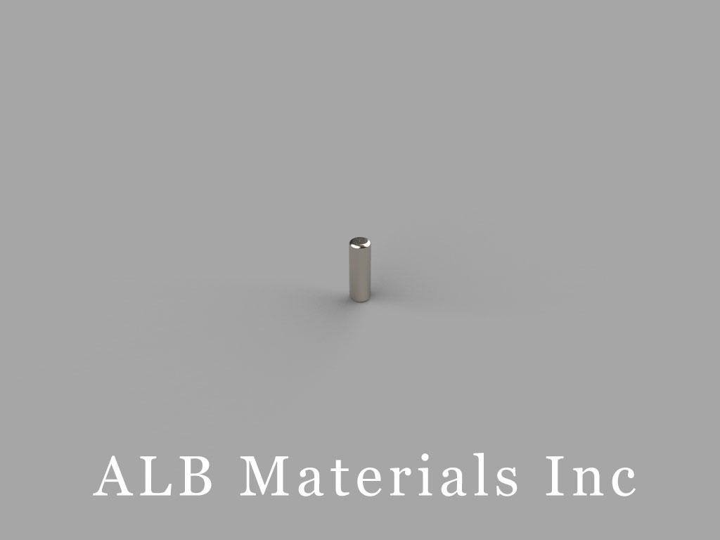 D13 Neodymium Magnets, 1/16 inch dia. x 3/16 inch thick