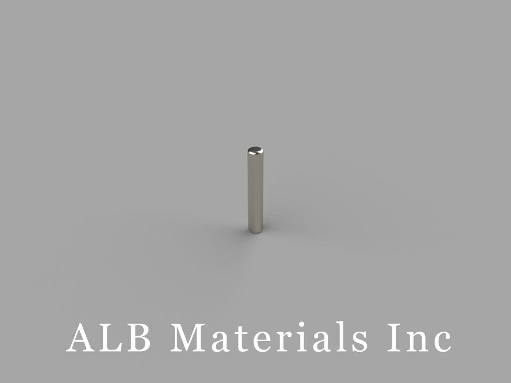 D16 Neodymium Magnets, 1/16 inch dia. x 3/8 inch thick