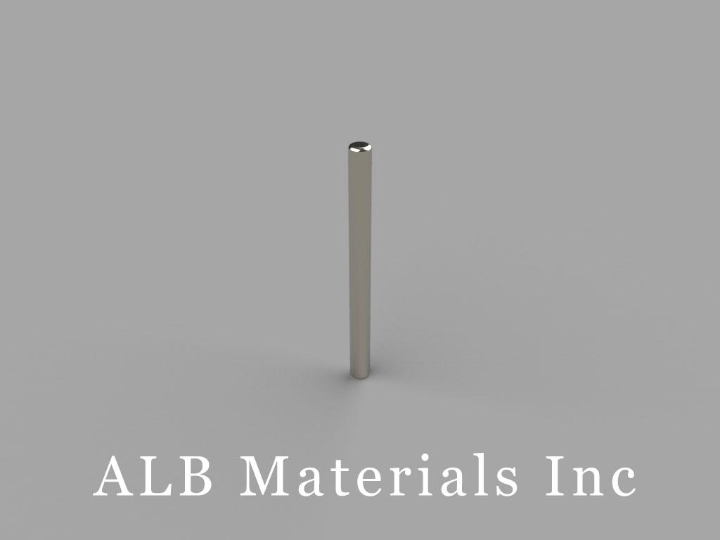 D1C Neodymium Magnets, 1/16 inch dia. x 3/4 inch thick