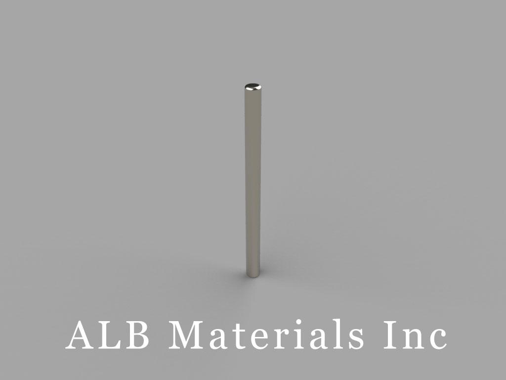 D1E Neodymium Magnets, 1/16 inch dia. x 7/8 inch thick