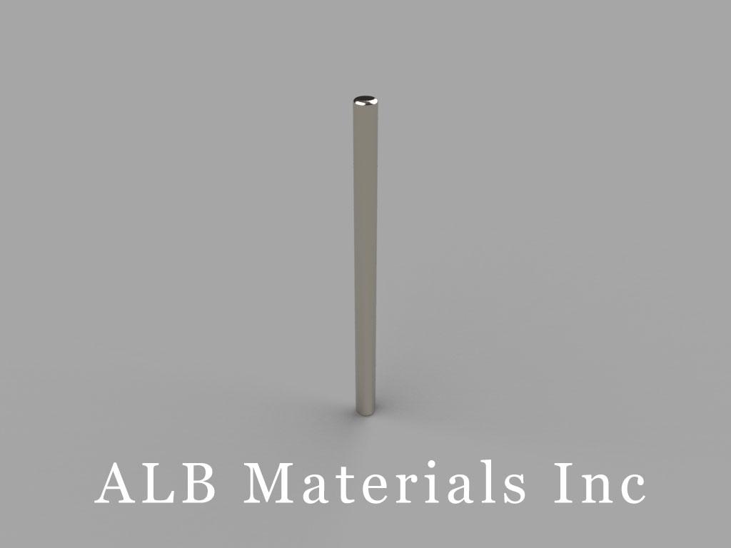 D1X0 Neodymium Magnets, 1/16 inch dia. x 1 inch thick