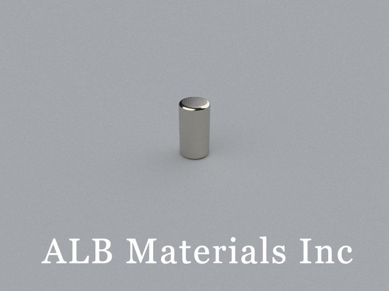 C-D2.7H5-N52C Neodymium Magnet, 2.7x5mm Cylinder Magnet